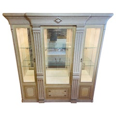 MCM Italian White Lacquered China Cabinet