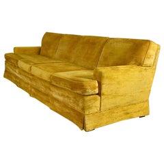 MCM Lawson Style 4 Cushion Gold Velvet Sofa Park Slope Coll. Abraham & Straus