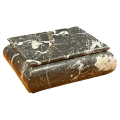 MCM Lidded Marble Trinket Box