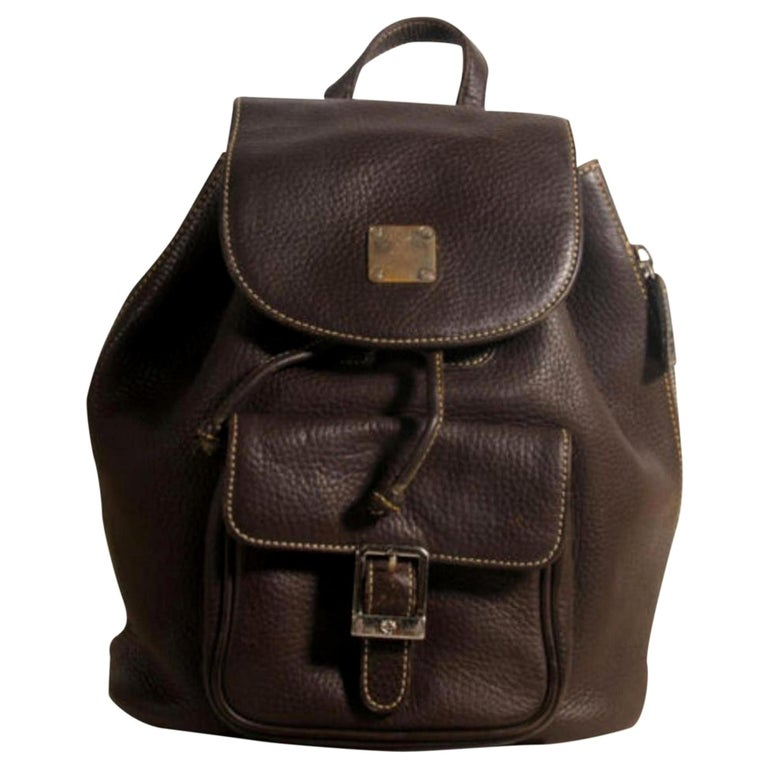 fa38570d7a0607 MCM Mini 869882 Black Leather Backpack For Sale at 1stdibs