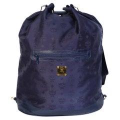 MCM Nylon Logo Drawstring Bucket Bag