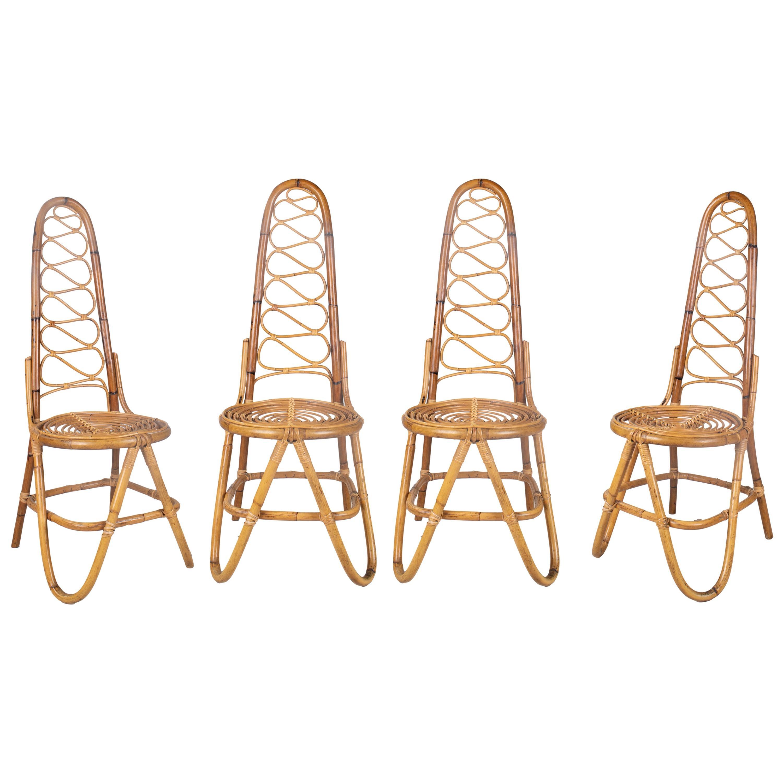 MCM Rattan Chairs by Dirk Van Sliedrecht for Rohe Noordwolde, 1950