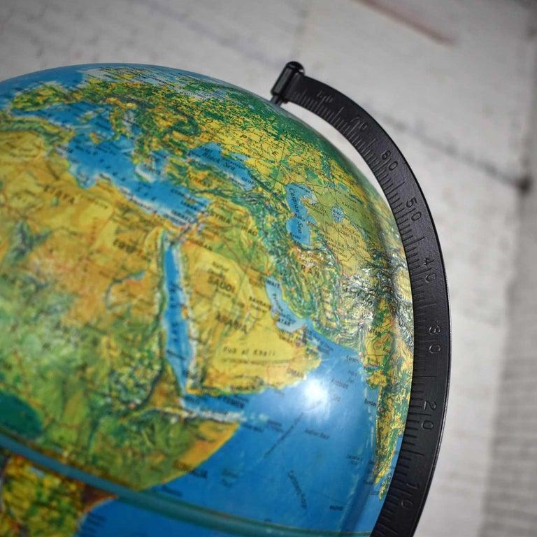 MCM Repogle World Horizon Series Lighted World Globe on Custom Pine Stand For Sale 5