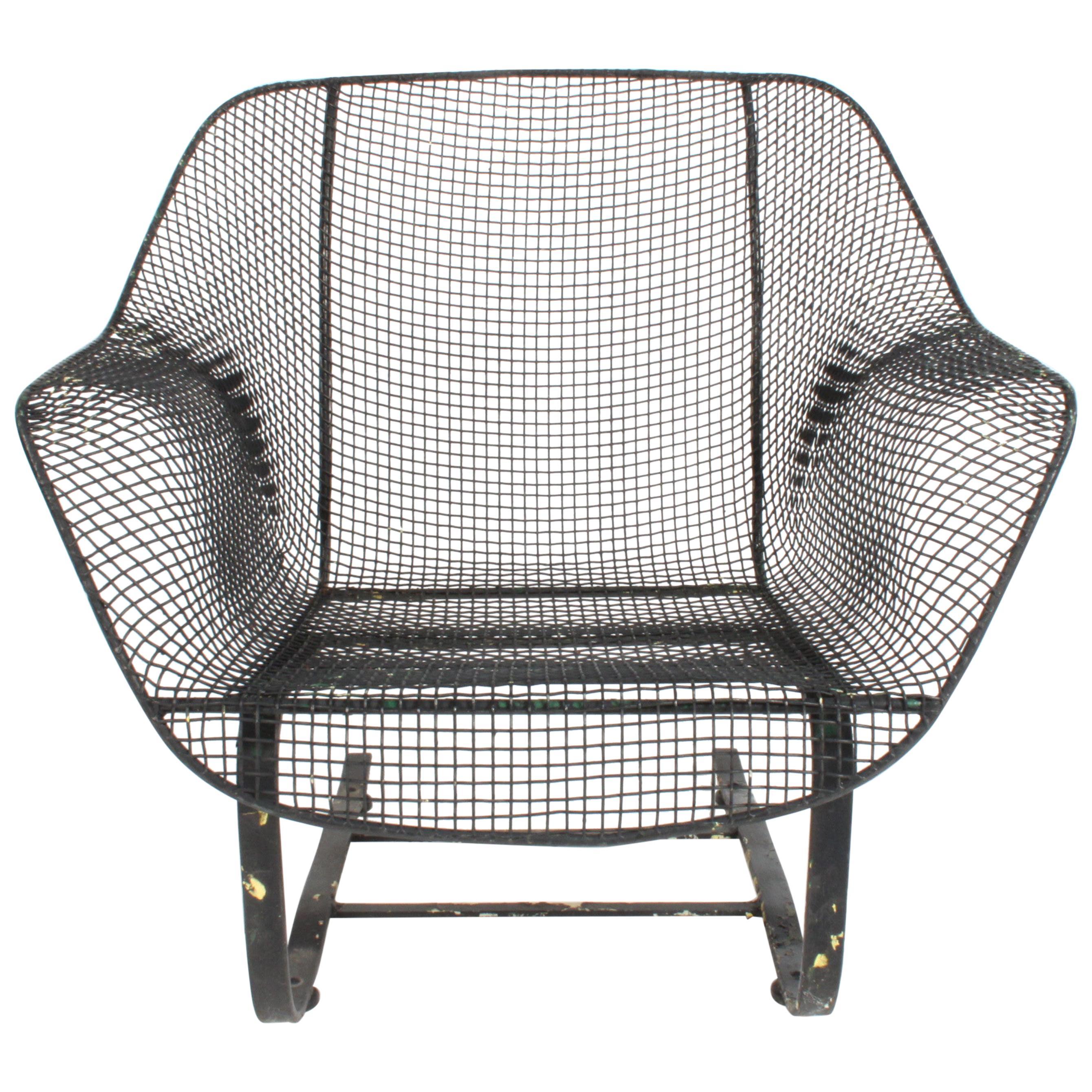 MCM Russell Woodard Sculptura Springer Low Wide Lounge Chair, Restored