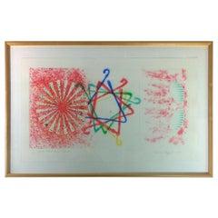 MCM Signed & Numbered James Rosenquist, Number Wheel Dinner Triangle, 1978