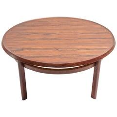 MCM Signed Scandinavian Rosewood Coffee Table by Haug Snekkeri for Bruksbo