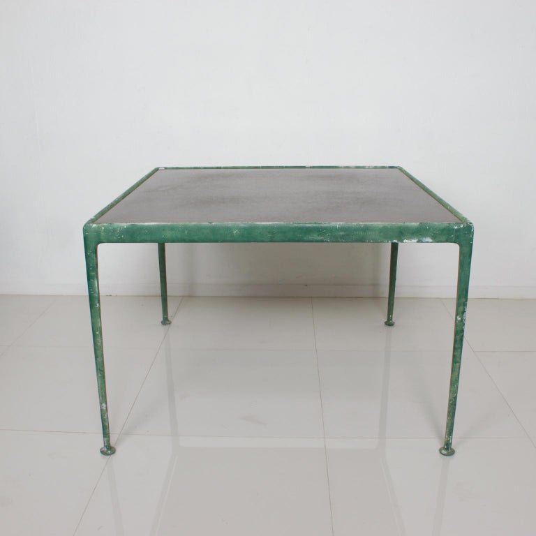 For your consideration: Outdoor vintage metal table by Richard Schultz, patio dining table for Knoll, circa 1960s,