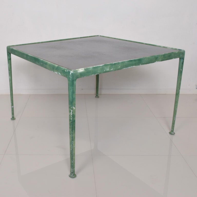 Aluminum MCM Vintage Patio Dining Table by Richard Schultz for Knoll, 1966 For Sale