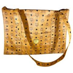 MCM Visetos Leather Shoulder Bag/ Luggage bag Beiges PVC Serial # Q7465