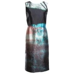 McQ by Alexander McQueen Haze Print Cutout Back Detail Sleeveless Dress S