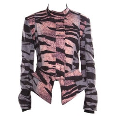 McQ by Alexander McQueen Multicolor Houndstooth and Animal Printed Jacket S