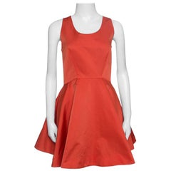 McQ by Alexander McQueen Red Sleeveless Volume Tank Dress M