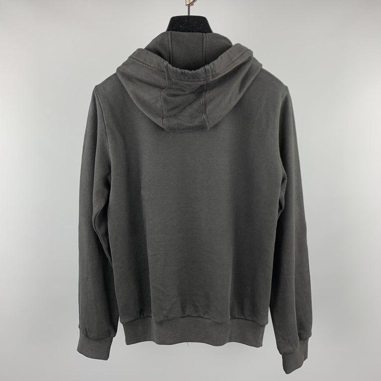Men's MCQ by ALEXANDER MCQUEEN Size XS Black Embellishment Cotton Hooded Sweatshirt For Sale