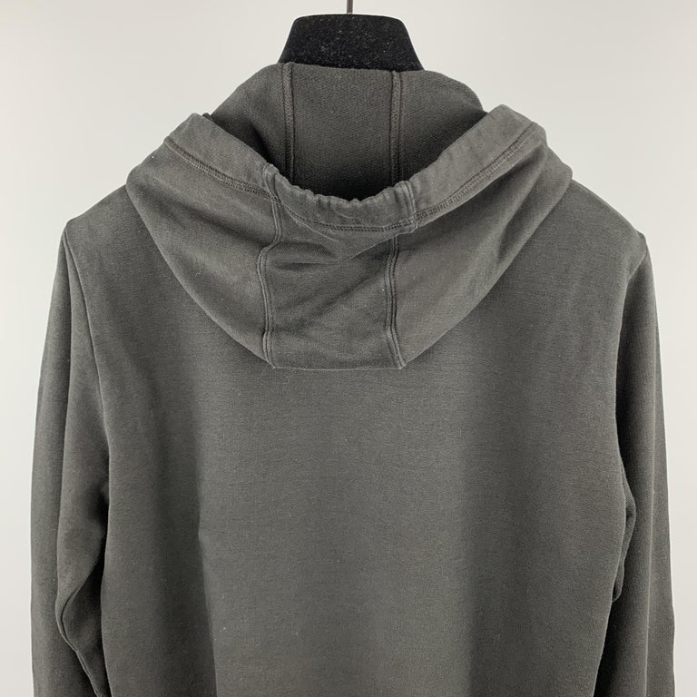 MCQ by ALEXANDER MCQUEEN Size XS Black Embellishment Cotton Hooded Sweatshirt For Sale 1