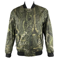 MCQ by ALEXANDER MCQUEEN Size XXL Olive Print Cotton Bomber Jacket