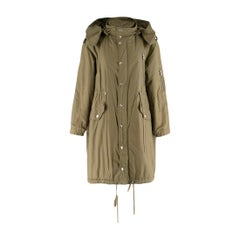 McQ Khaki Convertible Trench Coat Size US 0-2