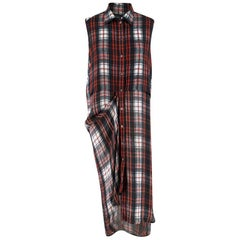 McQ Tartan Double Layer Shirtdress SIZE 38 (italy)