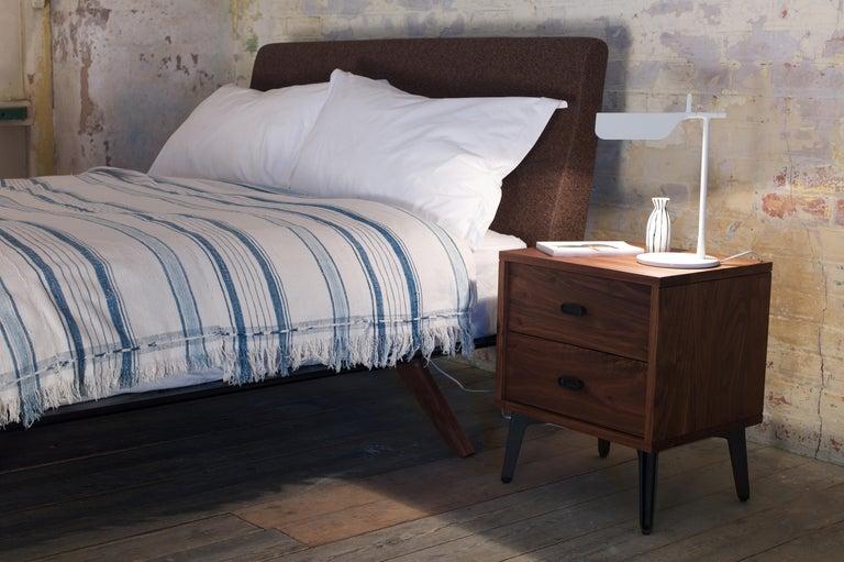 Modern McQueen Bedside Dresser in Walnut by Matthew Hilton For Sale