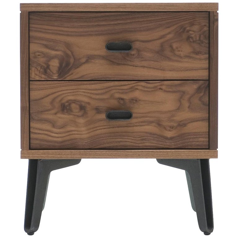 McQueen Bedside Dresser in Walnut by Matthew Hilton For Sale