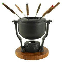Danish Modern Vintage Digsmed Cast Iron Fondue