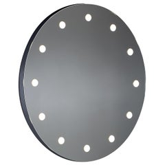 MDE Frameless Round Lighted Wall Mirror