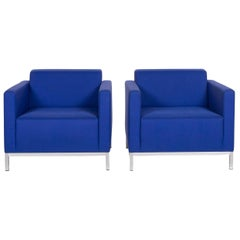 MDF Italia Armchair Set Blue 2 Armchair