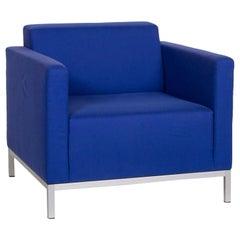 MDF Italia Fabric Armchair Blue
