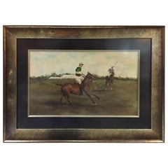 """Meadowbrook Polo Club Championship 1929 Painting of Winning Team """"Hurricanes"""""""