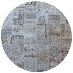 MeatPacking Patchwork Wool Cotton Vintage Round Rug by Deanna Comellini Ø300cm