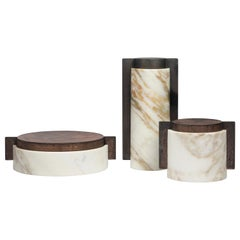 Meccanismi, Contemporary Storage Vessels or Sculptures in Marble and Iron
