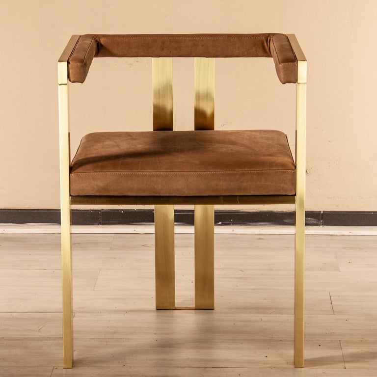 Meccano Armchair, Solid Brass Frame, Luxury Manufacturing by Selezioni Domus For Sale 10