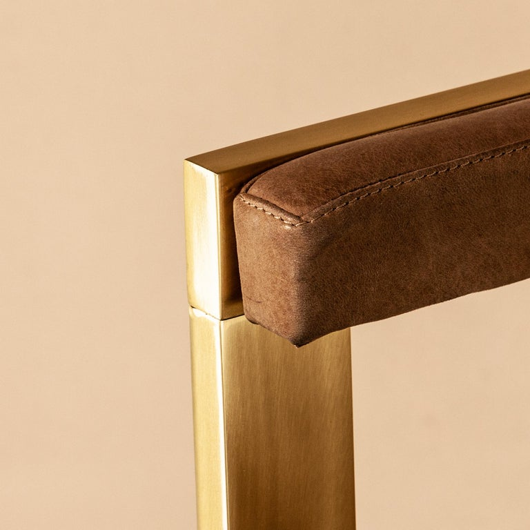 Meccano Armchair, Solid Brass Frame, Luxury Manufacturing by Selezioni Domus For Sale 13
