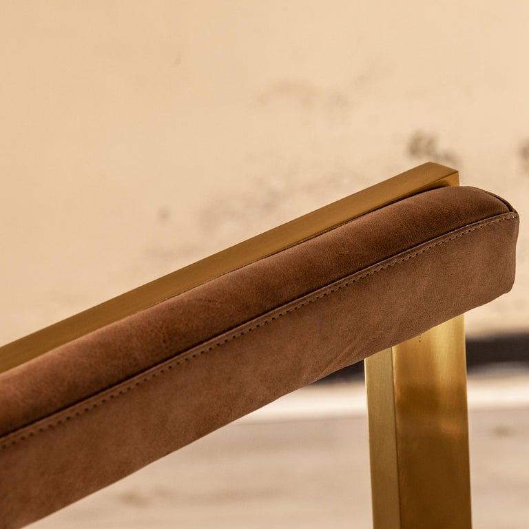Meccano Armchair, Solid Brass Frame, Luxury Manufacturing by Selezioni Domus For Sale 17