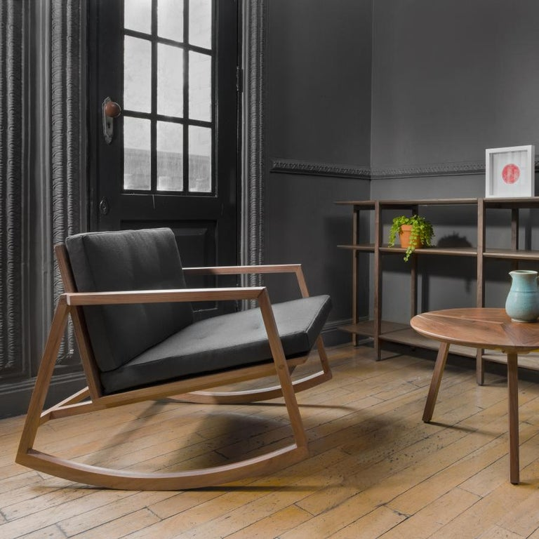 Modern Mecedora Dedo, Mexican Contemporary Rocking Chair by Emiliano Molina for Cuchara For Sale