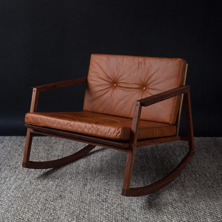 Mecedora Dedo, Mexican Contemporary Rocking Chair by Emiliano Molina for Cuchara In New Condition For Sale In Mexico City, MX
