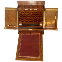 Mechanical Campaign Style Lap Desk and Letter Box
