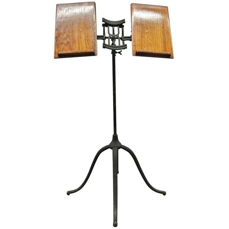 mechanical folio music stand english for sale at 1stdibs. Black Bedroom Furniture Sets. Home Design Ideas
