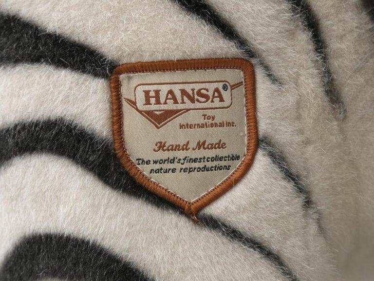 Mechanical or Animated Stuffed Zebra, by Hansa For Sale 7