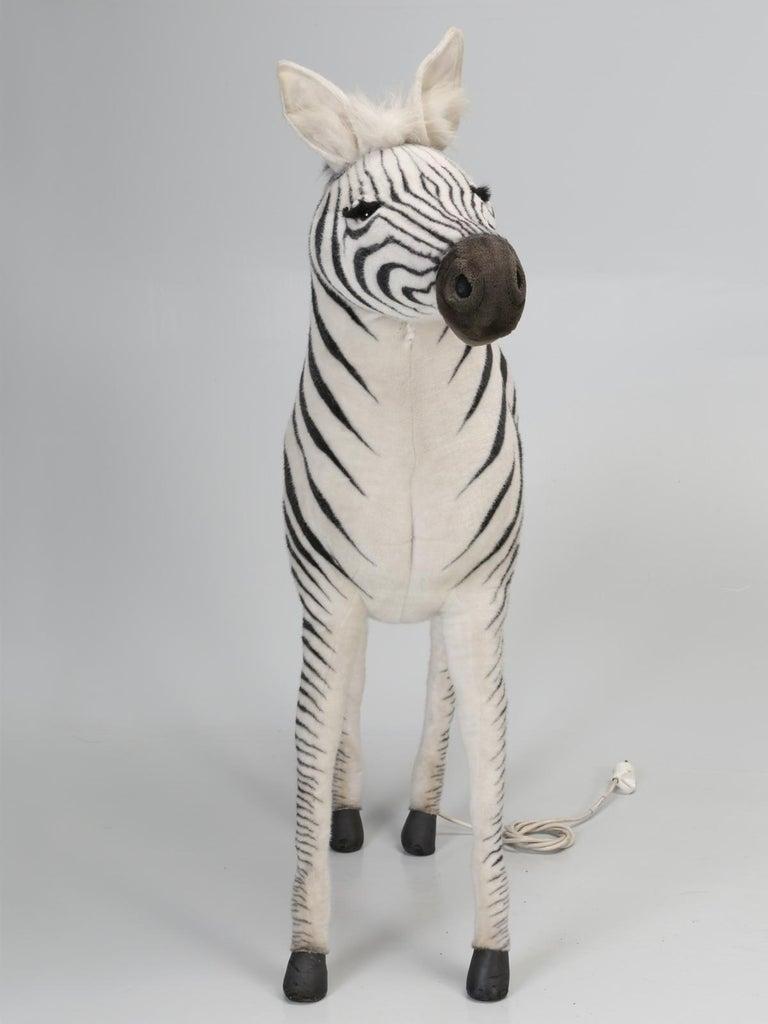 Mechanical or Animated Stuffed Zebra, by Hansa For Sale 8