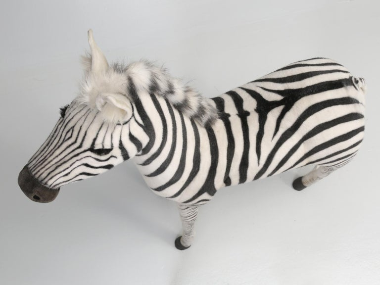 Mechanical or Animated Stuffed Zebra, by Hansa For Sale 9