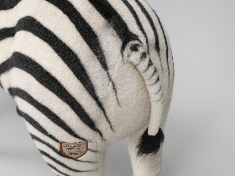 Mechanical or Animated Stuffed Zebra, by Hansa For Sale 10
