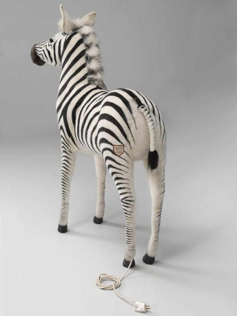 Mechanical or Animated Stuffed Zebra, by Hansa For Sale 11