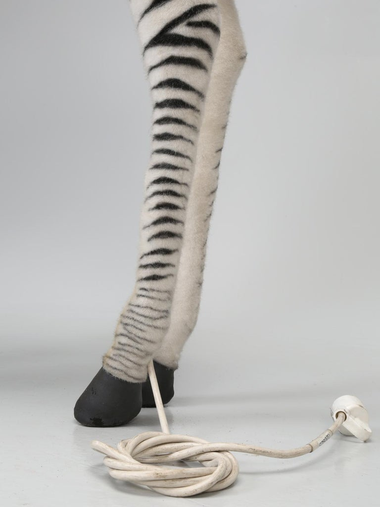 Mechanical or Animated Stuffed Zebra, by Hansa For Sale 12