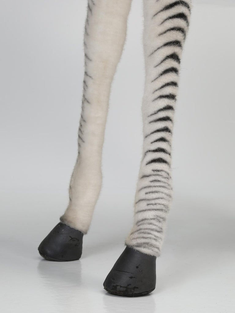 Mechanical or Animated Stuffed Zebra, by Hansa For Sale 13