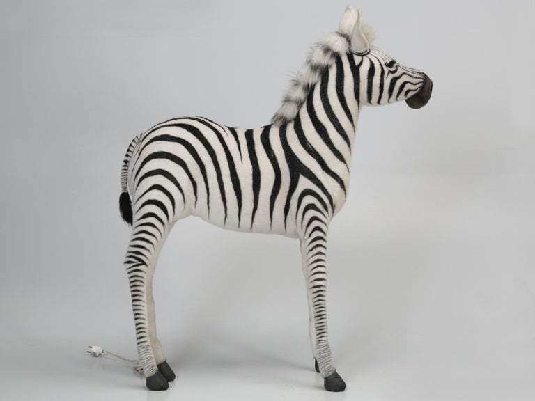 Philippine Mechanical or Animated Stuffed Zebra, by Hansa For Sale