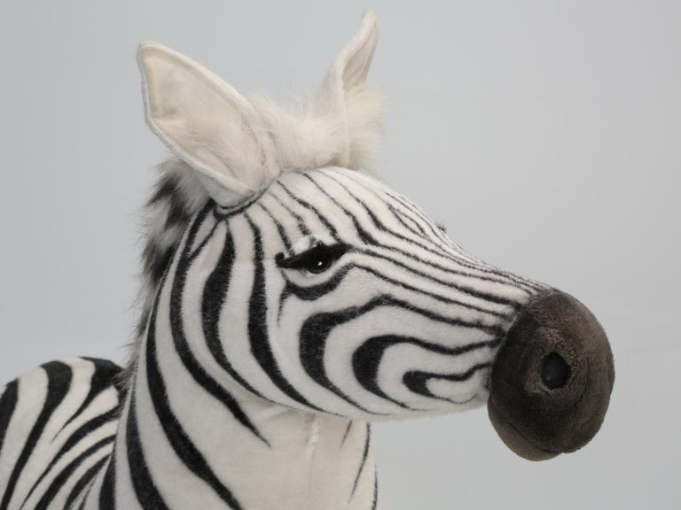 Late 20th Century Mechanical or Animated Stuffed Zebra, by Hansa For Sale