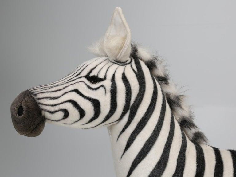 Acrylic Mechanical or Animated Stuffed Zebra, by Hansa For Sale