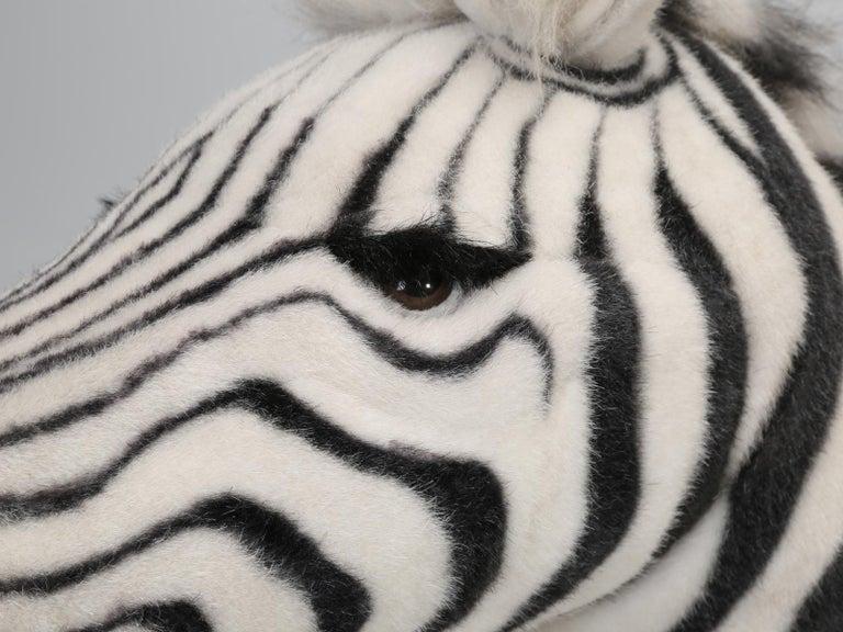 Mechanical or Animated Stuffed Zebra, by Hansa For Sale 1