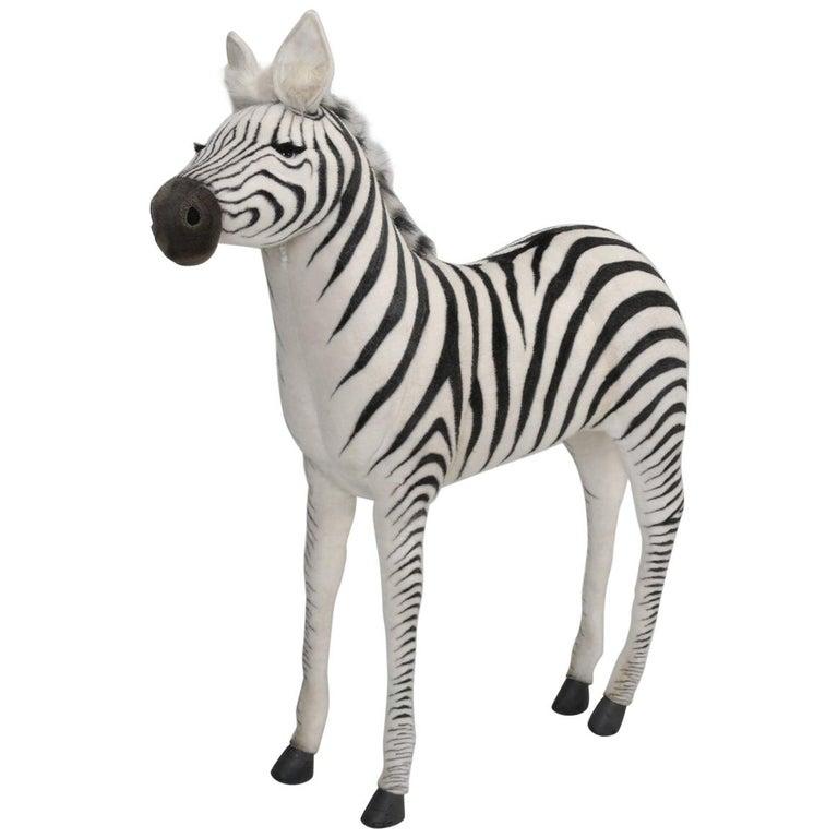 Mechanical or Animated Stuffed Zebra, by Hansa For Sale