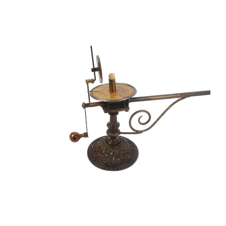 Czech Antique Rare Mechanical Orrery, Astronomical Instrument  by Jan Felkl Praga 1870 For Sale